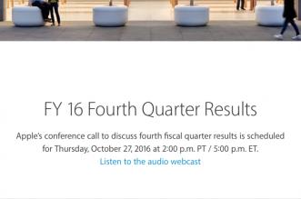 apple schedules q4 2016