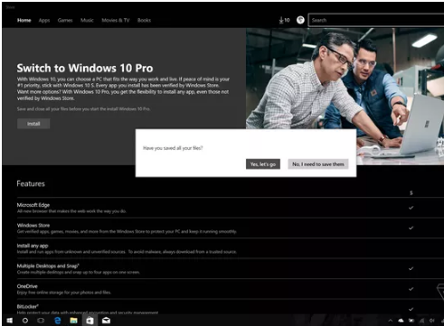 BACKUP BEFORE YOU MOVE TO WINDOWS 10 PRO