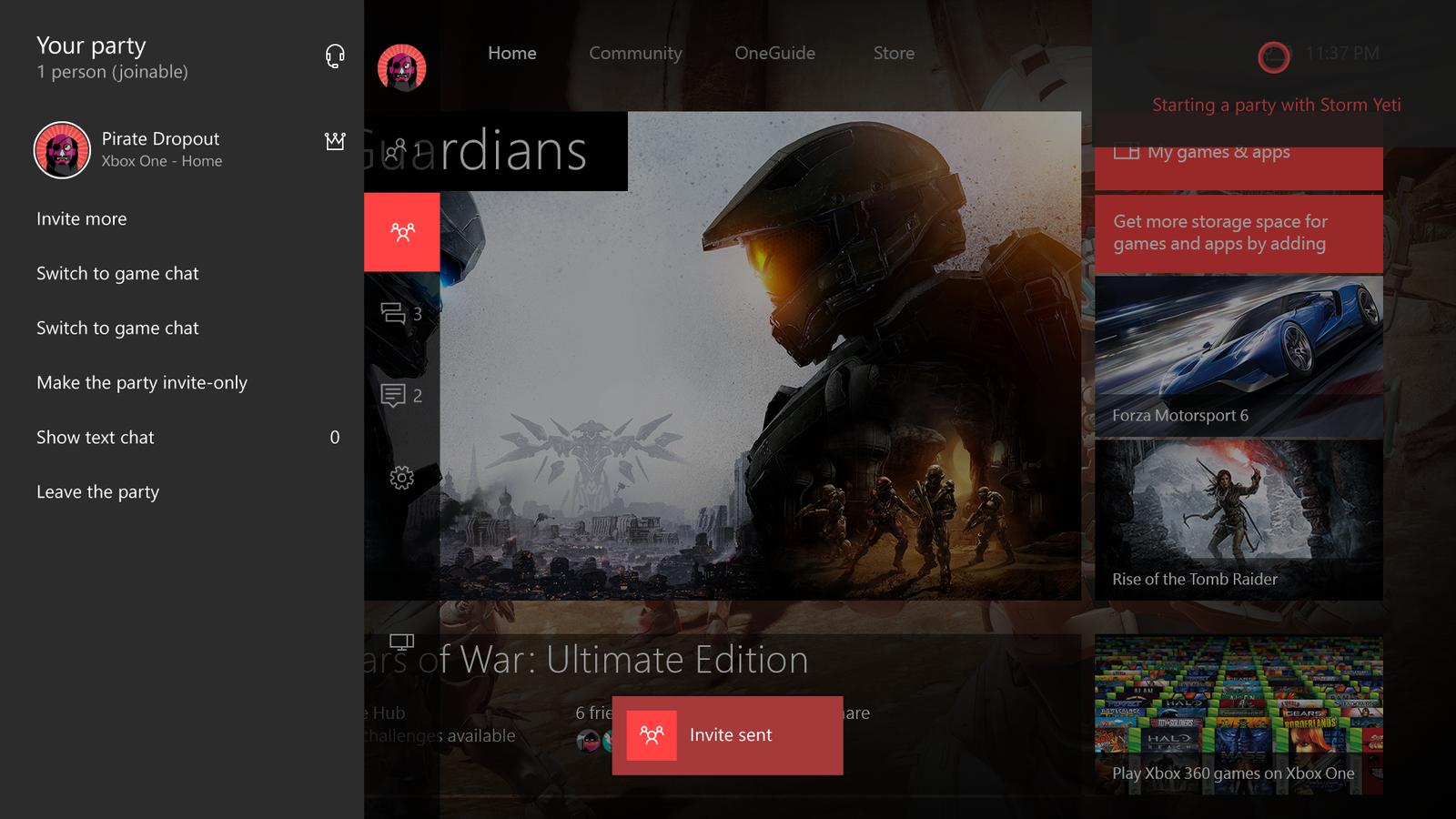 CortanaParty-Xbox One