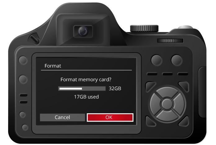 Format- memory card