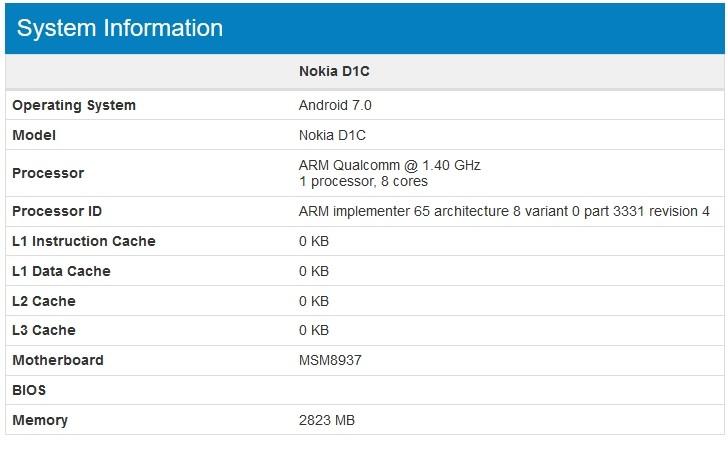 اخبار الامارات العاجلة Nokia-Android-smartphone-660x314 تسريبات تكشف عن هاتف Nokia D1C بنظام الأندوريد 7.0 Nougat أخبار التقنية  أخبار التقنية آيفون آندرويد nokia d1c-leak nokia hmd geekbench   اخبار الامارات العاجلة Geekbench-Nokia-DIC-leak تسريبات تكشف عن هاتف Nokia D1C بنظام الأندوريد 7.0 Nougat أخبار التقنية  أخبار التقنية آيفون آندرويد nokia d1c-leak nokia hmd geekbench