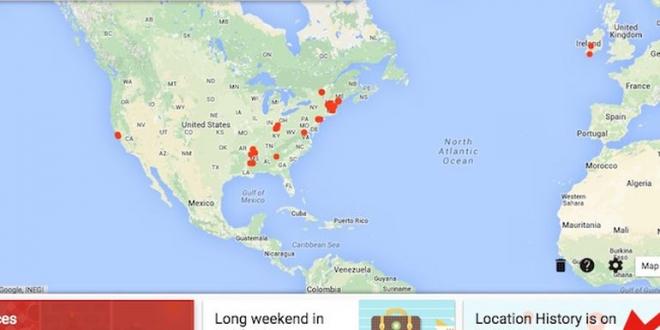 Google Maps-timeline