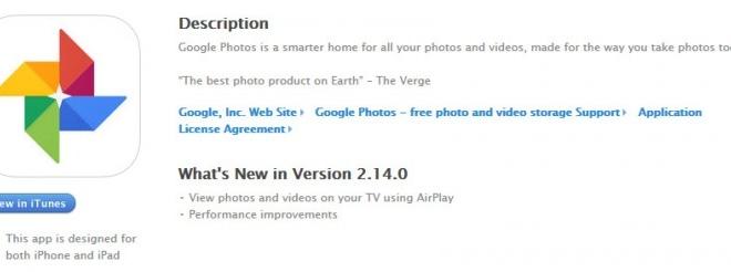 Google Photos on iOS updated