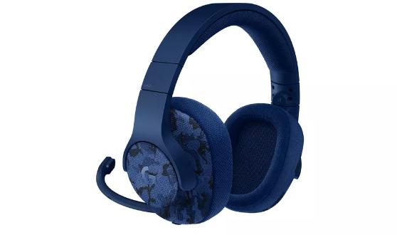 Logitech's new blue camo gaming headphones