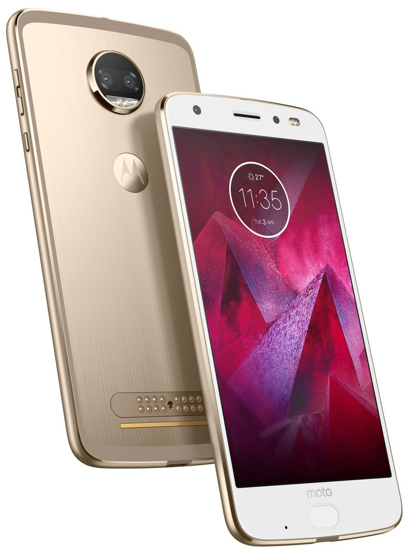 Moto Z2 Force Edition Front Back Fine Gold