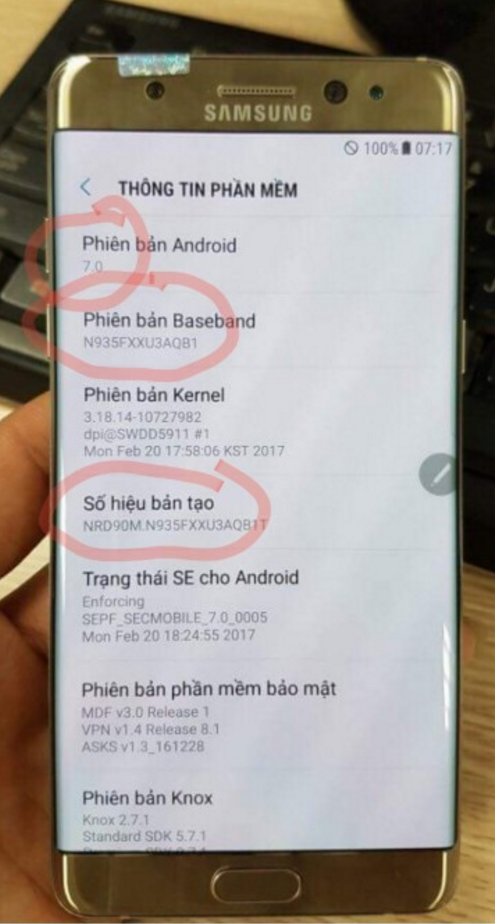 Refurbished Galaxy Note7