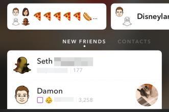 Snapchat -user interface