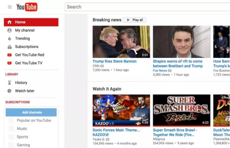 يوتيوب يضيف ميزة تصفح الأخبار العاجلة breaking news لنسختي الويب والهاتف