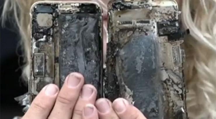 ًإحتراق جديد لهاتف iPhone 7 في استراليا!