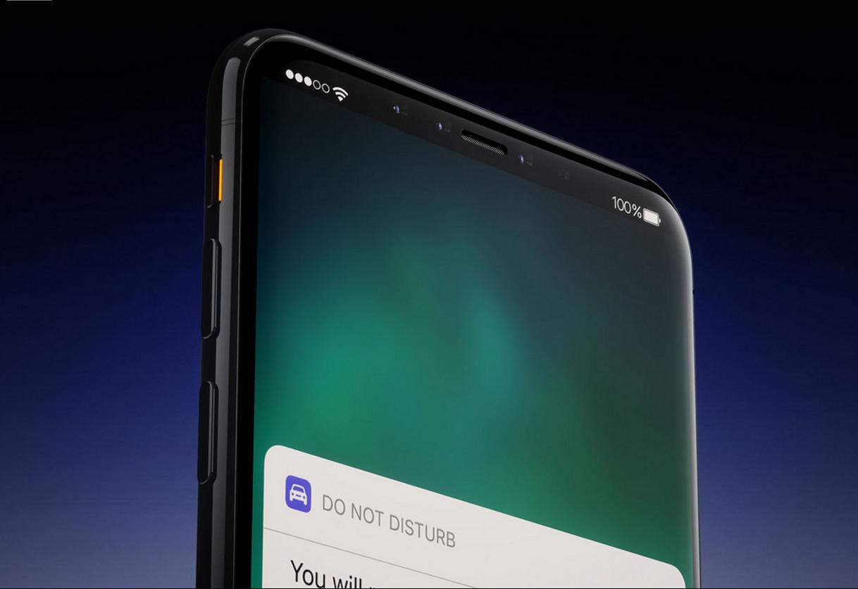 اخبار غير مؤكدة ان آيفون 8 قد يغلق صوت الإشعارات عند النظر للشاشة
