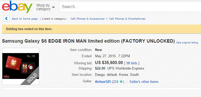 iron man galaxy s6 edge ebay