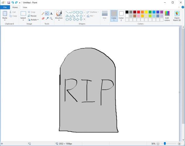 إلغاء برنامج MS Paint