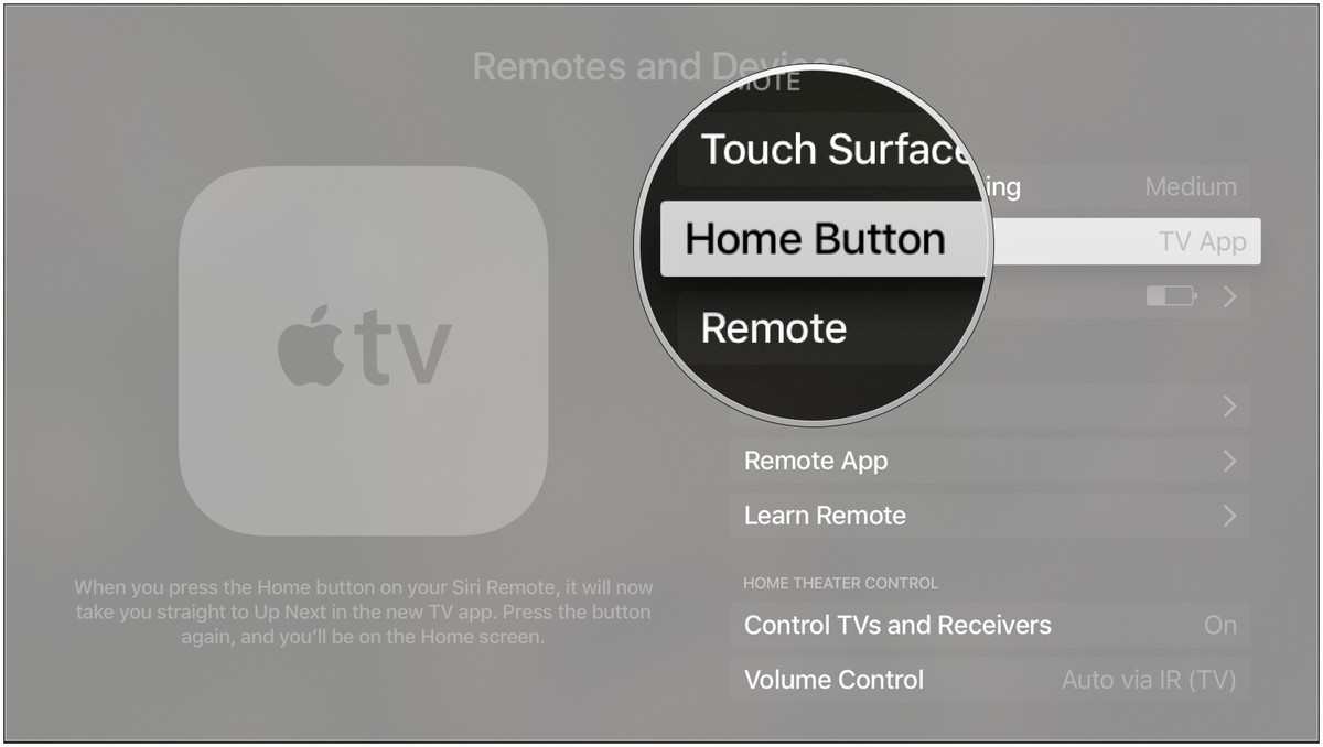 tvos remote home button 2