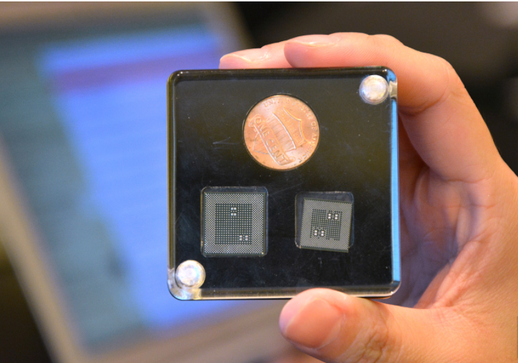 A 14nm chip (left) versus the 10nm Snapdragon 835