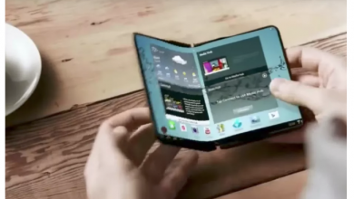 A concept ad for a foldable Samsung phone