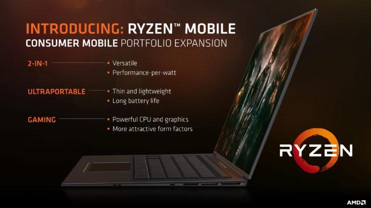 AMD Brings Ryzen Mobile to Notebooks