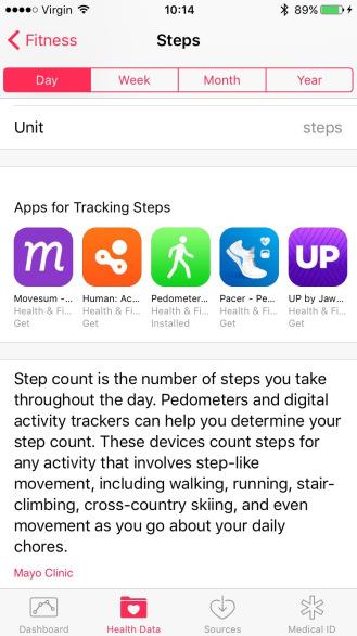Activity To Health Dashboard