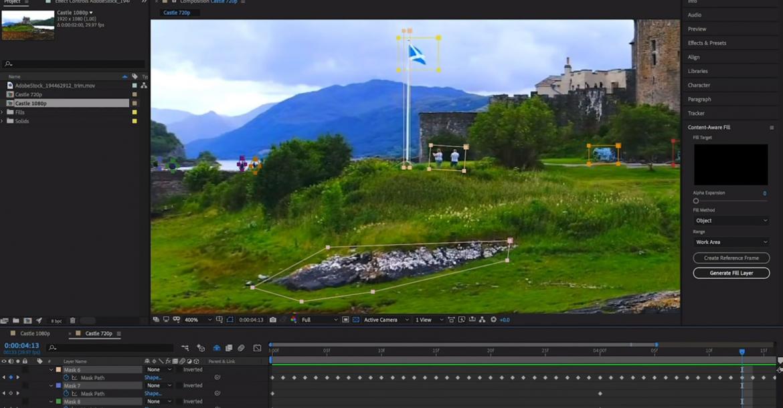 الآن Adobe After Effects يتيح إزالة الأشياء أو الأشخاص من محتوى الفيديو