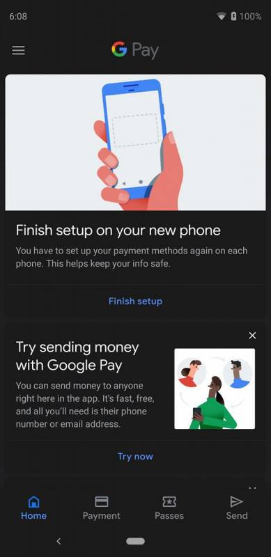 Android-Q-Google-Pay-Dark-Theme
