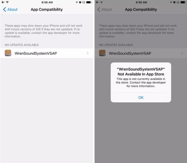 App compatibility status