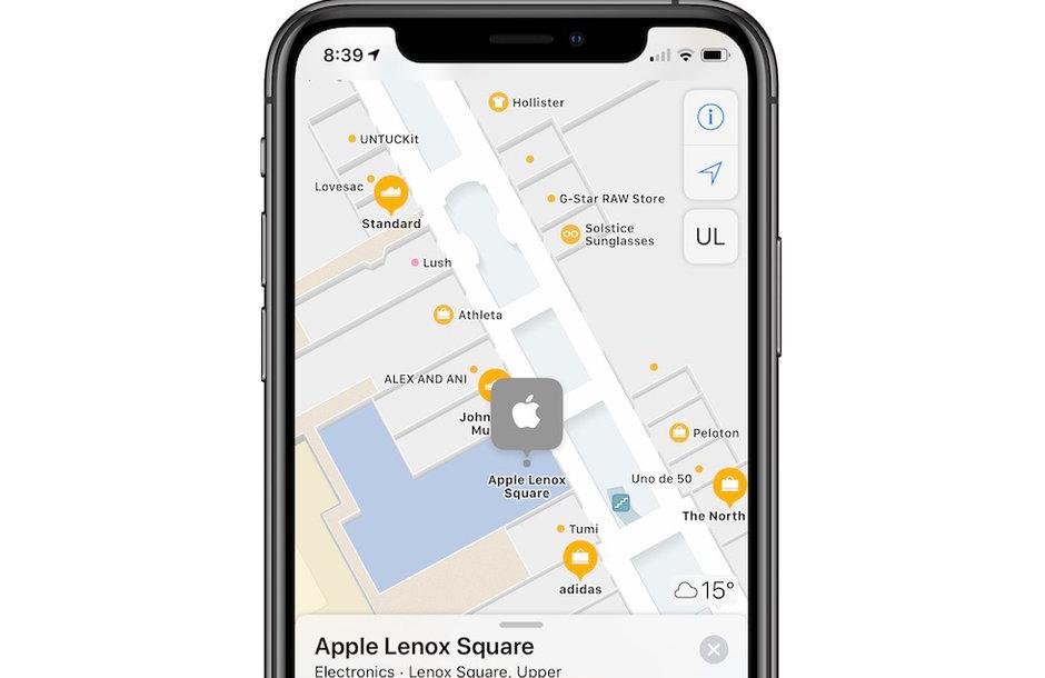 Apple Maps scores indoor maps
