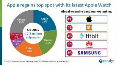 Apple once again leads the wearable market