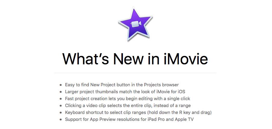 Apple -update-iMovie