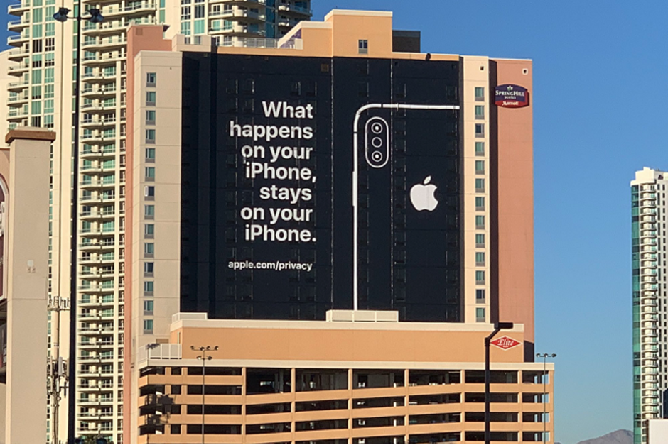 Apple-uses-famous-Las-Vegas-slogan-to-promote-iPhone-security-on-billboard-near-CES