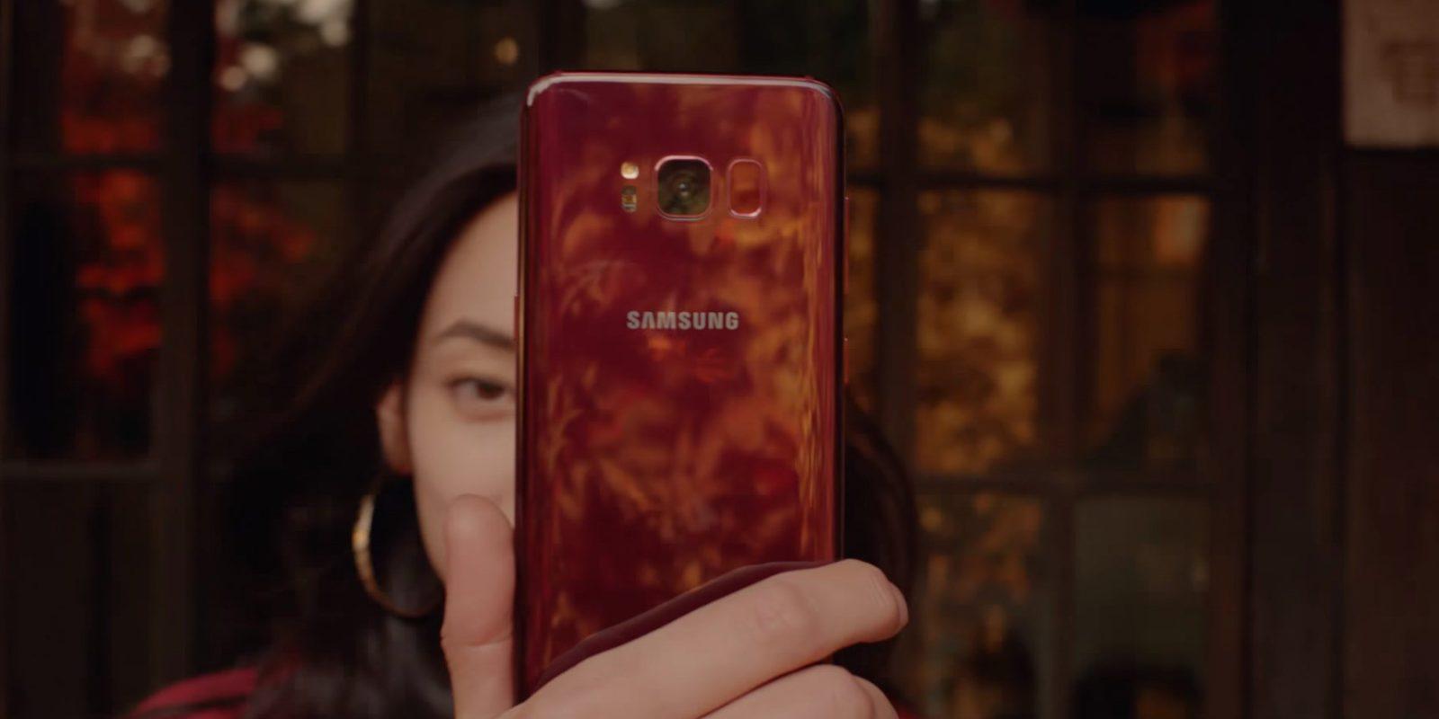 Burgundy Red Galaxy S8