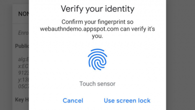 Chrome - fingerprint -on Android and Mac