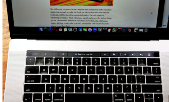 Chrome plays nicely with your MacBook Pro's Touch Bar