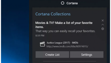 Cortana's new Collections feature