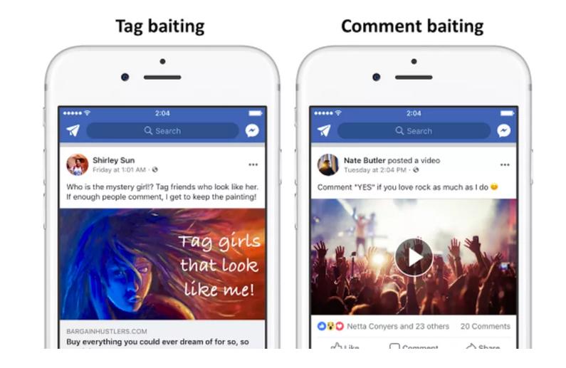 فيسبوك قريبًا سيقلل المشاركات التي تطلب الإعجاب والتعليقات، والمشاركات