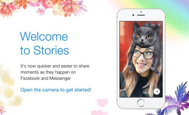 Facebook and Messenger will share the same Stories