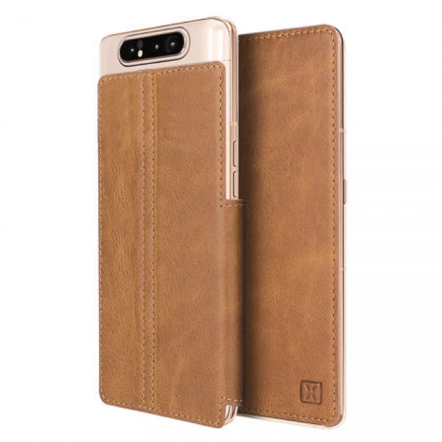 Galaxy A80 Olixar Slim Genuine Leather Wallet case
