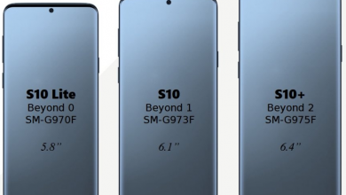 Galaxy S10-serie-s screen -sizes