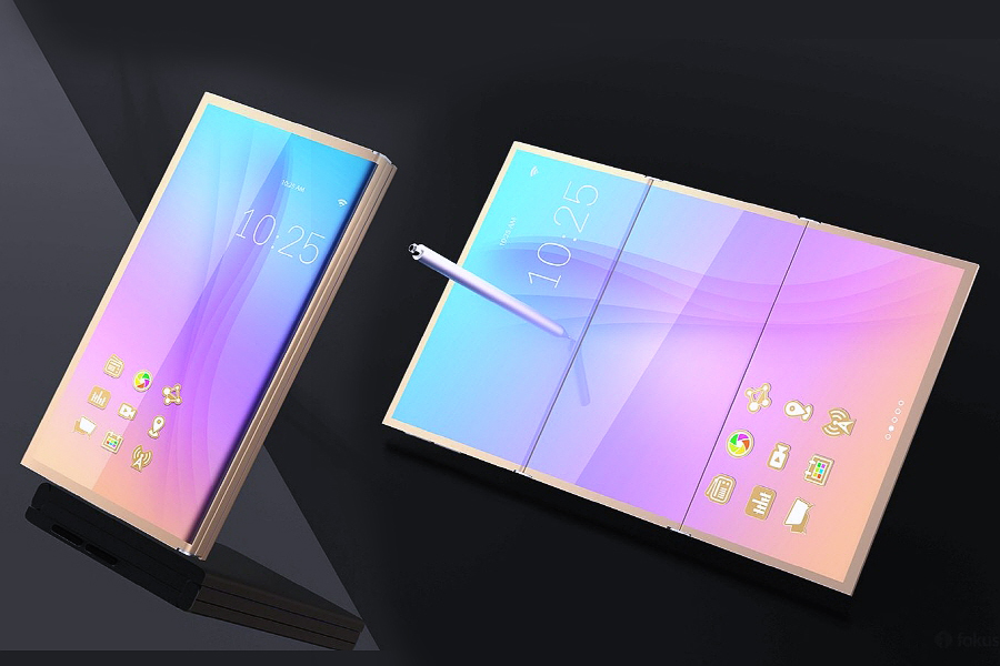 Galaxy X folding phone