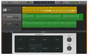 GarageBand- Force Touch trackpad