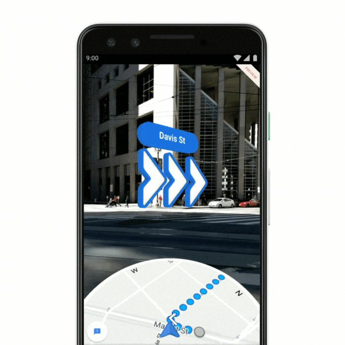Google Maps AR rolling out to Pixel