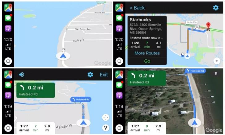 Google Maps- CarPlay- iOS 12