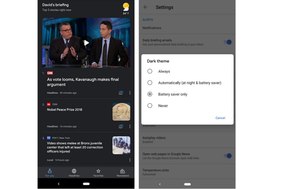 Google-News-app-starts-receiving-Dark-Theme