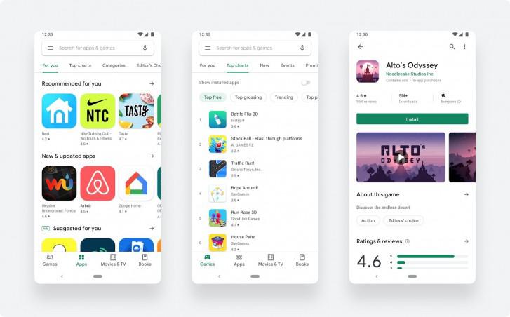 جوجل تقدم الآن رسميا متجر جوجل بلاي بالتصميم الجديد لجميع المستخدمين