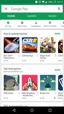 Google Play -app - new- UI-1