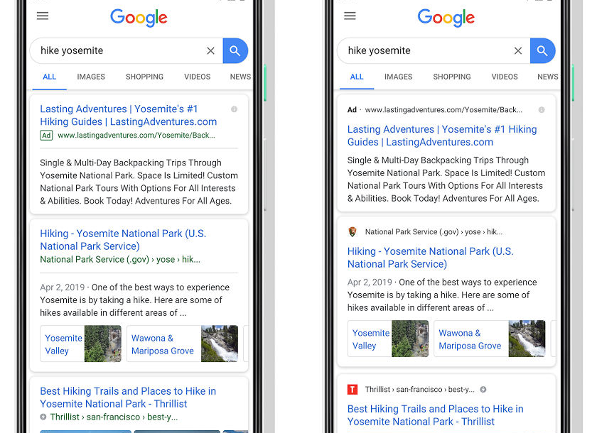 الآن جوجل تقدم صفحة نتائج البحث على الهاتف بتصميم جديد