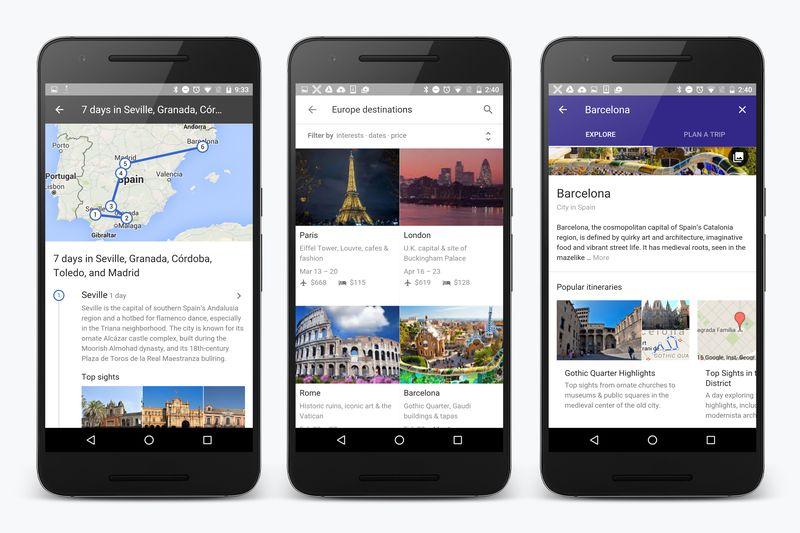 Google-destinations