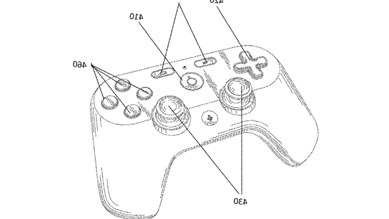 Google patent-controller design - game streaming -service
