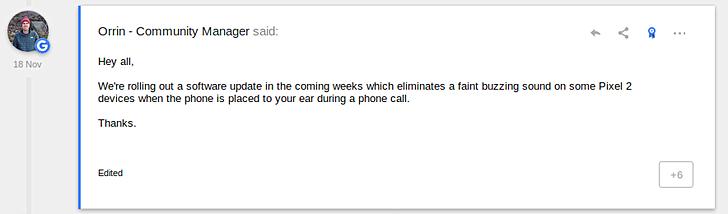 تحديث جديد من جوجل لمعالجة مشكلة الصوت بهواتف بكسل 2