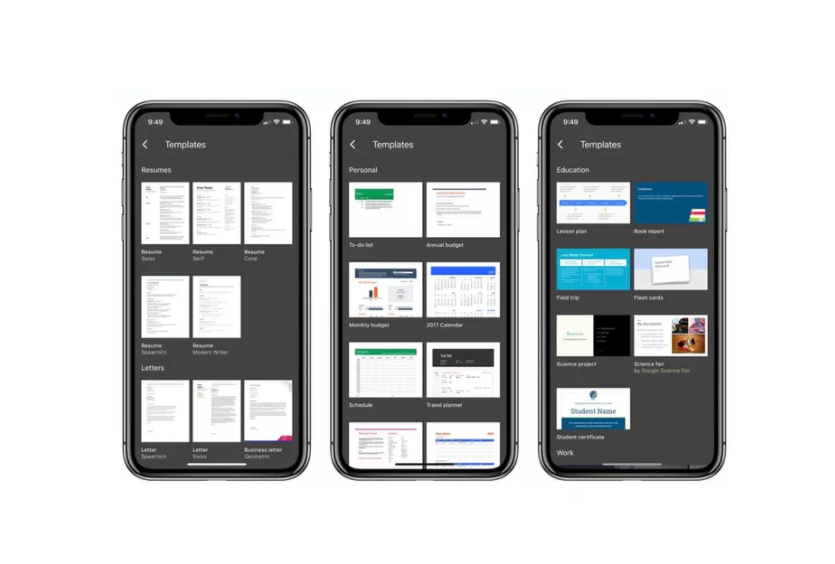 Google updates Docs, Slides, and Sheets for iPhone X and iOS 11