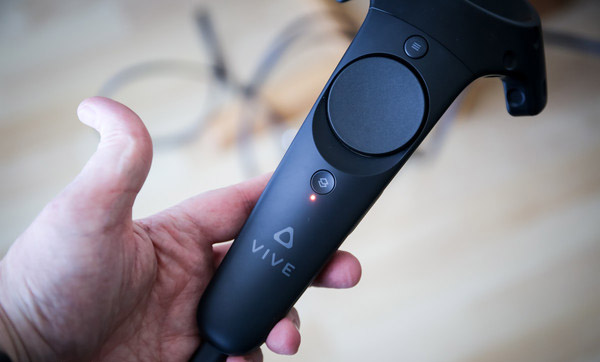 HTC Vive wireless controllers