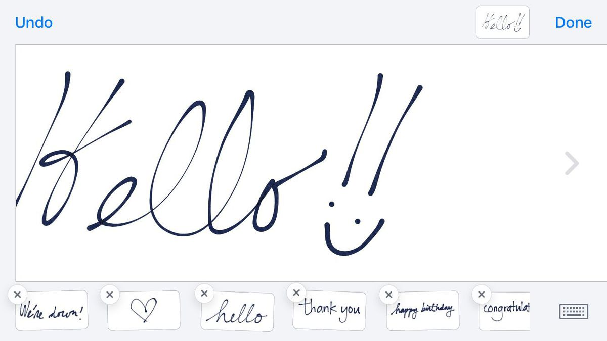 handwriting in messages
